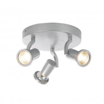 Wolsey Triple Plate 3x35W GU10 Silver Spotlight