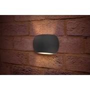 Integral ILDEA014 Wall Light Lux Stone 3000k LED 320lm 8W (Dark Grey)