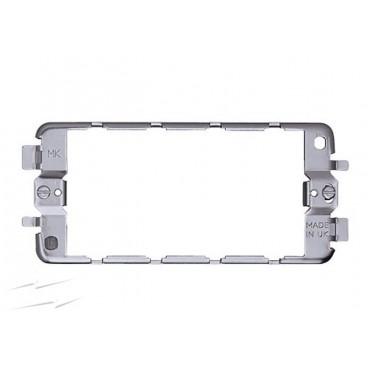 MK K3703 Grid Plus Frame 2 Gang 3 Module