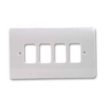 MK K3634WHI Grid Plus Front Plate 4 Module 86x146mm (White)