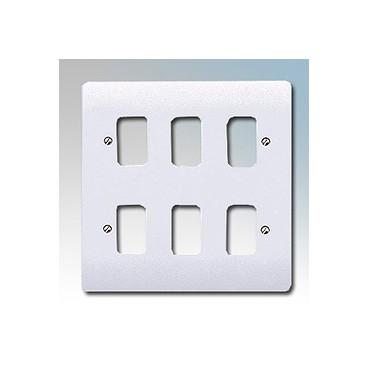 MK K3636 Grid Plus FrontPlate 6 Module 146x146mm (White)
