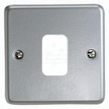 MK K3491ALM Grid Plus FrontPlate 1 Module 86x86mm (Aluminium)