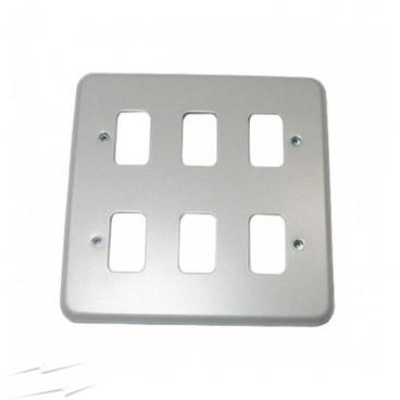 MK K3496ALM Grid Plus FrontPlate 6 Module 146x146mm (Aluminium)