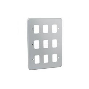 MK K3499ALM Grid Plus FrontPlate 9 Module 146x207mm (Aluminium)