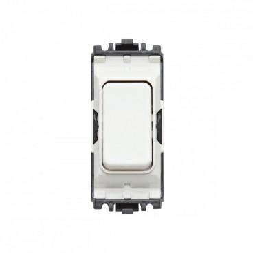 MK K4893WHI Grid Plus Grid Switch Intermediate 20A (White)