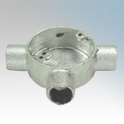 20G3 Circular Box Tee 20mm (galvanised)