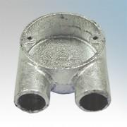 20GU Circular Box U 20mm (Galvanised)