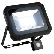 ALL LED PIR FLOODLIGHT LED SLIM 4000K IP65 c/w PIR SENSOR 50W (BLACK)